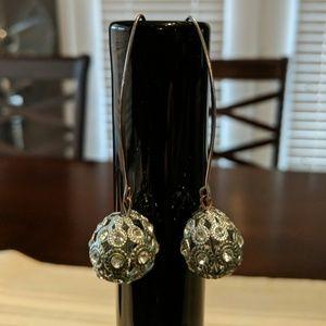 Silver costume jewelry earrings